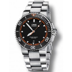 Oris Mens Aquis Automatic Bracelet Watch 733 7653 4128-07B