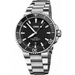 Oris Mens Black Bracelet Watch 733 7730 4154-07 8MB
