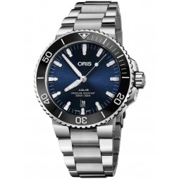 Oris Mens Aquis Date Blue Bracelet Watch 733 7730 4135-07 8MB