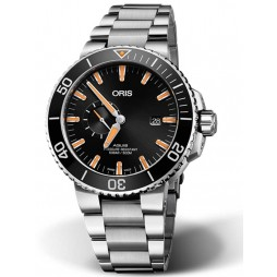 Oris Mens Aquis Date Small Second Bracelet Watch 01 743 7733 4159-07 8 24 05PEB