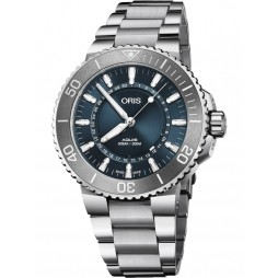 Oris Mens Aquis Source Of Life Limited Edition Bracelet Watch 733 7730 4125-SET MB