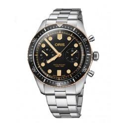 Oris Mens Divers Sixty-Five Chronograph Bracelet Watch 771 7744 4354-07 8 21 18