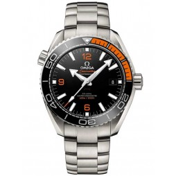 Omega Mens Seamaster Planet Ocean Black Chronometer Bracelet Watch 215.30.44.21.01.002