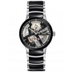 Rado Mens Centrix Black Ceramic Skeletal Bracelet Watch R30178152