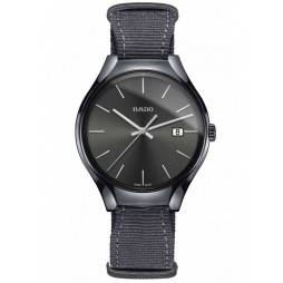 Rado Mens True Quartz Grey Fabric Strap Watch R27232106 L