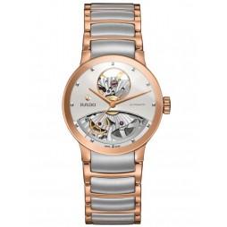 Rado Ladies Centrix Automatic Open Heart Grey and Rose Ceramic Bracelet Watch R30248012 M