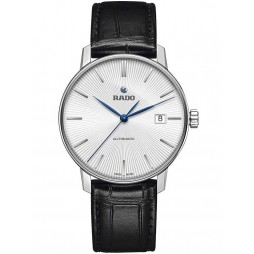 Rado Mens Black Leather Strap Watch R22860045
