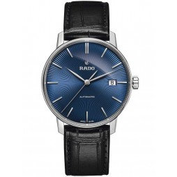 Rado Mens Coupole Classic Automatic Black Leather Strap Watch R22860205