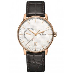 Rado Mens Coupole Classic Automatic Brown Leather Strap Watch R22879025