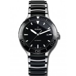 Rado Mens Centrix Automatic Black and Silver Ceramic Bracelet Watch R30002162