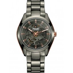 Rado Mens HyperChrome Automatic Open Heart Grey Ceramic Bracelet Watch R32021102