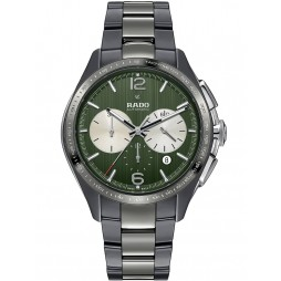 Rado Mens HyperChrome Automatic Chronograph Tennis Special Ceramic Bracelet Watch R32022312
