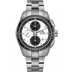 Rado Mens HyperChrome Automatic Chronograph Grey Ceramic and Steel Bracelet Watch R32042103