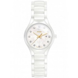Rado Ladies True Diamonds Quartz White Ceramic Bracelet Watch R27061902 S