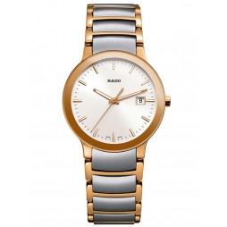 Rado Ladies Centrix Quartz Grey and Rose Ceramic Bracelet Watch R30555103 S