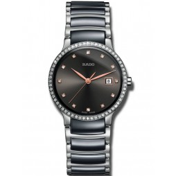 Rado Ladies Centrix Diamonds Grey Ceramic Bracelet Watch R30936732