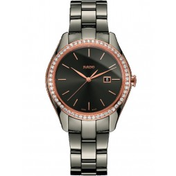 Rado Ladies HyperChrome Diamonds Grey Ceramic Bracelet Watch R32125102