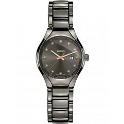 Rado Ladies True Diamonds Quartz Grey Ceramic Bracelet Watch R27060732