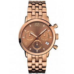 88 Rue Du Rhone Ladies Double 8 Origin Rose Gold Plated Chronograph Bracelet Watch 87WA153517