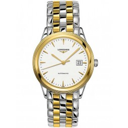 Longines Flagship White Dial Two Colour Bracelet Watch L49743227