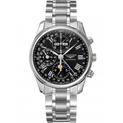 Longines Master Chronograph Black Dial Bracelet Watch L26734516