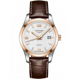 Longines Conquest Classic Two Colour Brown Leather Strap Watch L27855763