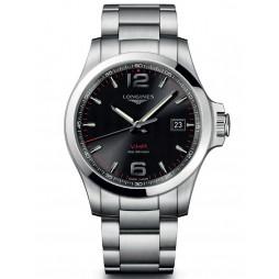 Longines Conquest V.H.P Black Dial Bracelet Watch L37264566