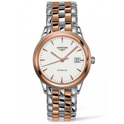 Longines Flagship White Dial Two Colour Bracelet Watch L49743927
