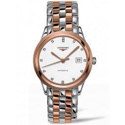 Longines Flagship Diamond Set White Dial Two Colour Bracelet Watch L49743997