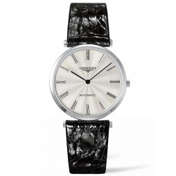 Longines La Grande Classique Silver Dial Leather Strap Watch L49084712