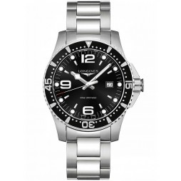 Longines HydroConquest Quartz Black Dial Bracelet Watch L38404566