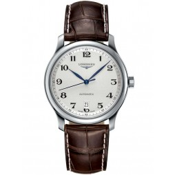 Longines Master Silver Dial Brown Leather Strap Watch L26284783