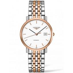 Longines Elegant White Dial Two Colour Bracelet Watch L48105127