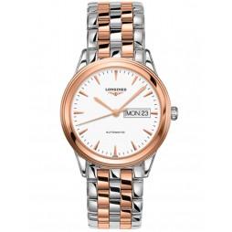 Longines Flagship White Dial Two Colour Bracelet Watch L48993927