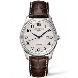 Longines Master Silver Dial Brown Leather Strap Watch L28934783