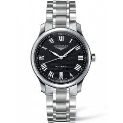 Longines Master Black Dial Bracelet Watch L26284516