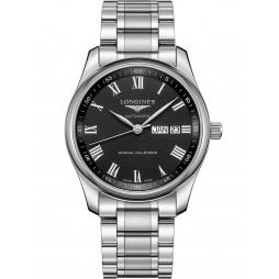 Longines Master Black Dial Bracelet Watch L29104516