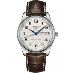 Longines Master Silver Dial Brown Leather Strap Watch L29104783