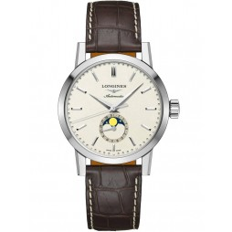 Longines 1832 Automatic Cream Dial Brown Leather Strap Watch L48264922