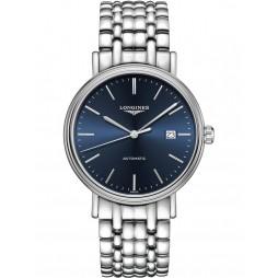Longines Presence Automatic Blue Dial Silver Bracelet Watch L49224926
