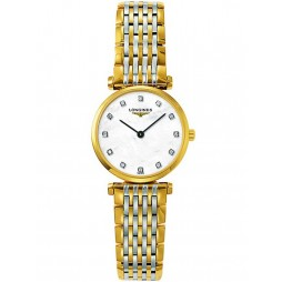Longines La Grande Classique Diamond Set Mother of Pearl Dial Two Colour Bracelet Watch L42092877