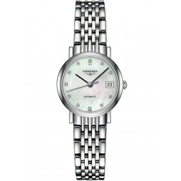 Longines Elegant Diamond Set Mother of Pearl Dial Bracelet Watch L43094876