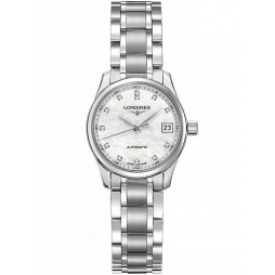 Longines Master Diamond Set Mother of Pearl Bracelet Watch L21284876