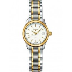 Longines Master White Dial Two Colour Bracelet Watch L21285127
