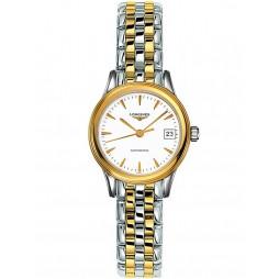 Longines Flagship White Dial Two Colour Bracelet Watch L42743227