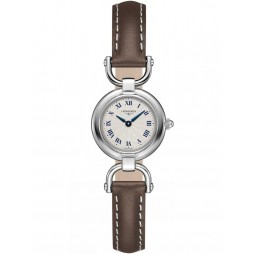 Longines Equestrian Silver Dial Brown Leather Strap Watch L61294712