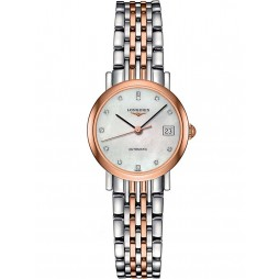 Longines Elegant Diamond Set Mother of Pearl Dial Two Colour Bracelet Watch L43095877