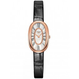 Longines Symphonette Mother Of Pearl Dial Black Leather Strap Watch L23058810