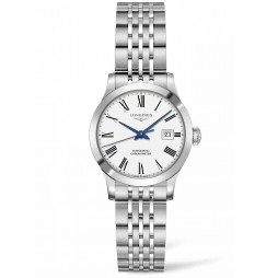 Longines Record White Dial Bracelet Watch L23214116