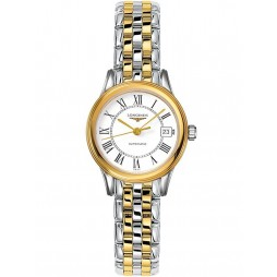 Longines Flagship White Dial Two Colour Bracelet Watch L42743217